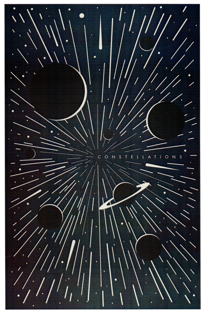 Constellations poster mike lemanski for Space poster design